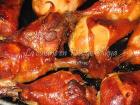 La cuisine en fête de Sakya: Pilons de poulet au teriyaki et au miel au four ou à la mijoteuse