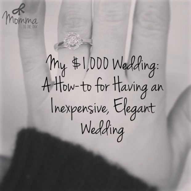 How to Have an Inexpensive, Elegant Wedding