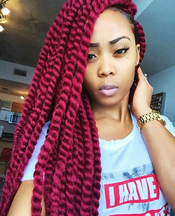 """""""STYLIST FEATURE  Love these #crochetwists on #MiamiStylist @JaelRoumain That red is GORGEOUS She is using the Havana Mambo Twist hair in burgundy from…"""" ========================= Go to VoiceOfHair.com ========================= Find hairstyles and hair tips! ========================="""