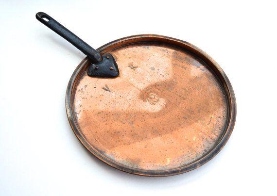 Vintage Copper Saucepan Lid Victorian Copper Lid Pan Lid Vintage Kitchenalia Vintage Home Decor Vintage Cottage Kitchen Kitchen Decor by FillyGumbo