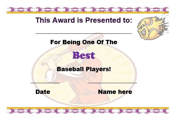 19 best baseball certificate templates images on pinterest baseball certificate template free yelopaper Choice Image