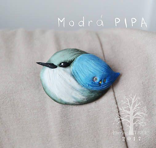 EarringTree / Modrá Pipa (brošňa)
