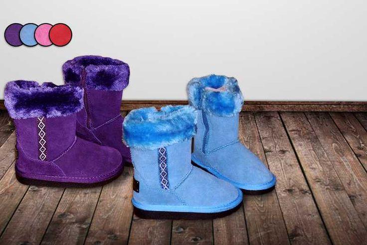 Kids' Faux Suede Boots - 4 Colours!