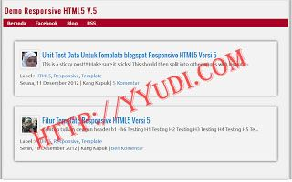 Download Template Responsive HTML5 V.6