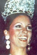 Miss Venezuela 1976 Elluz Peraza. Representó al Estado Guárico. Entregó la corono horas después....