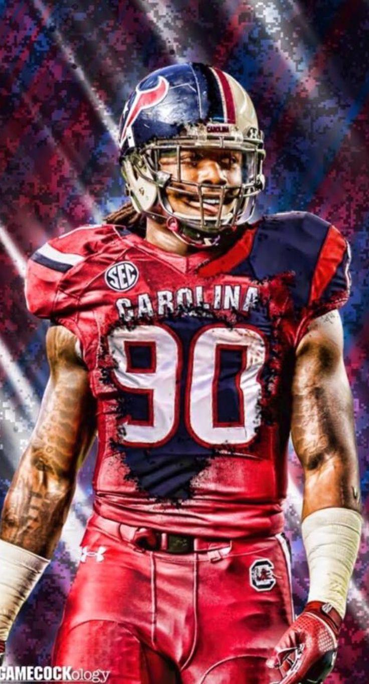 South Carolina Gamecocks DE #7 Jadeveon Clowney  (2011-2013) #90 Houston Texans OLB #1 Draft Pick 2014 NFL Draft