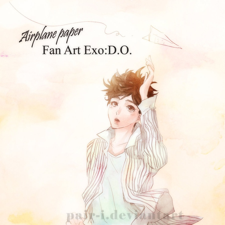 exo D.O. : Airplane paper by pair-i.deviantart.com