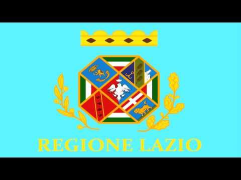 Bandera e Himno de Lacio (Italia) - Flag and Anthem of Lazio (Italy)