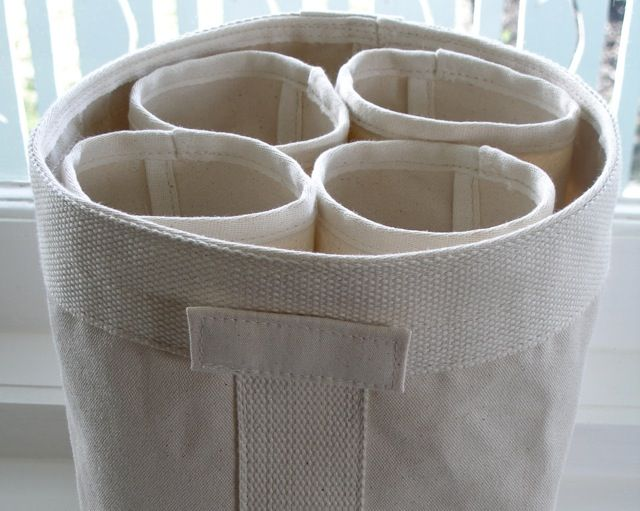 square storage bag and cylinders