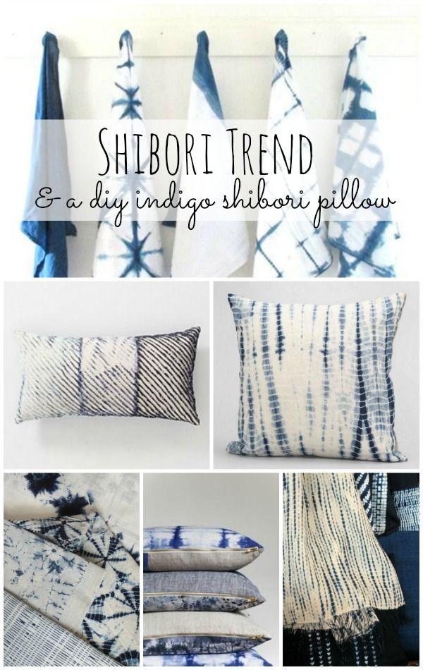 Shibori Trend: DIY Indigo Shibori Pillow