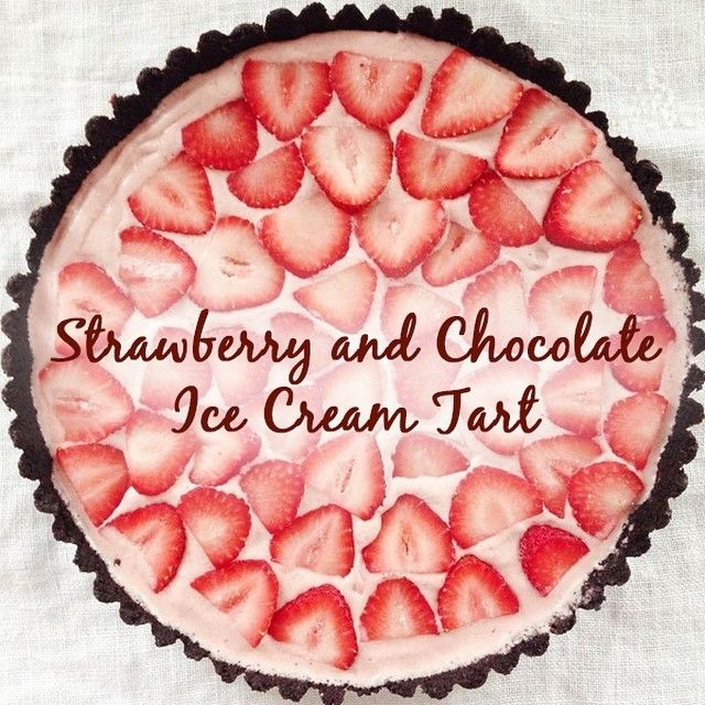 Tired of baking? We've got you covered with this recipe for Strawberry and Chocolate Ice Cream Tart - no baking necessary!