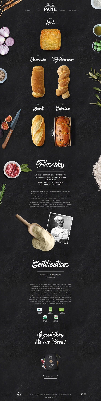 Pane Grabbing your five senses webdesign bakery design