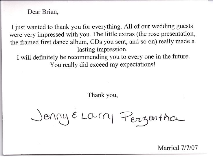 Wedding Thank You Notes Wording Google Search Wedding 2015