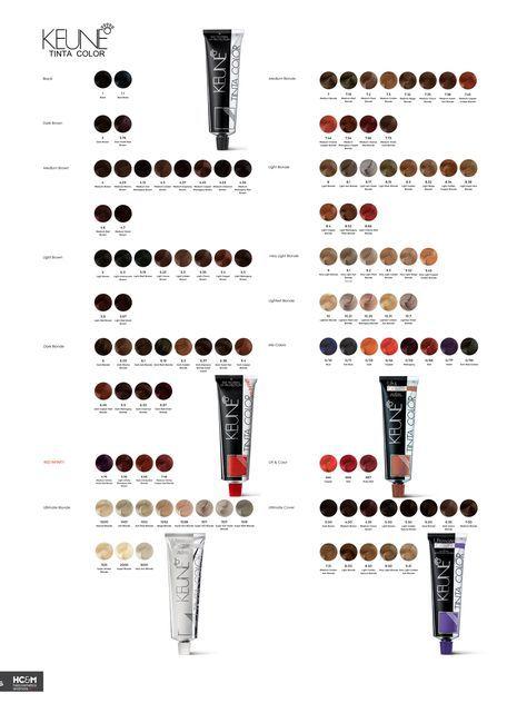Hair Color Chart Keune For 2019 Hair Color Chart Hair Color Shades Ash Hair Color