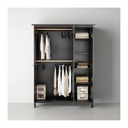 HEMNES Wardrobe with 3 doors - black-brown - IKEA More space for clothes, so my closet can have more space for books (: