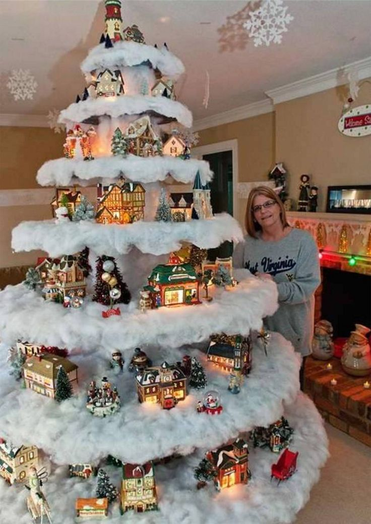 30 Of The Most Creative Christmas Trees Christmas Tree Village Unusual Christmas Trees Creative Christmas Trees