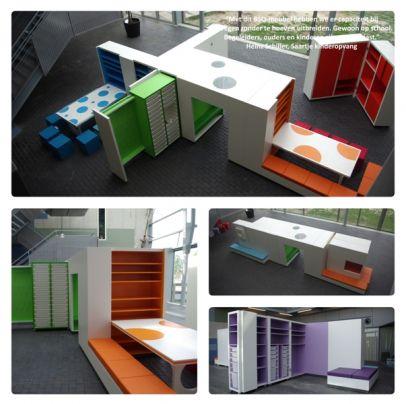 Kids Cube meubilair voor flexibele kinderopvang