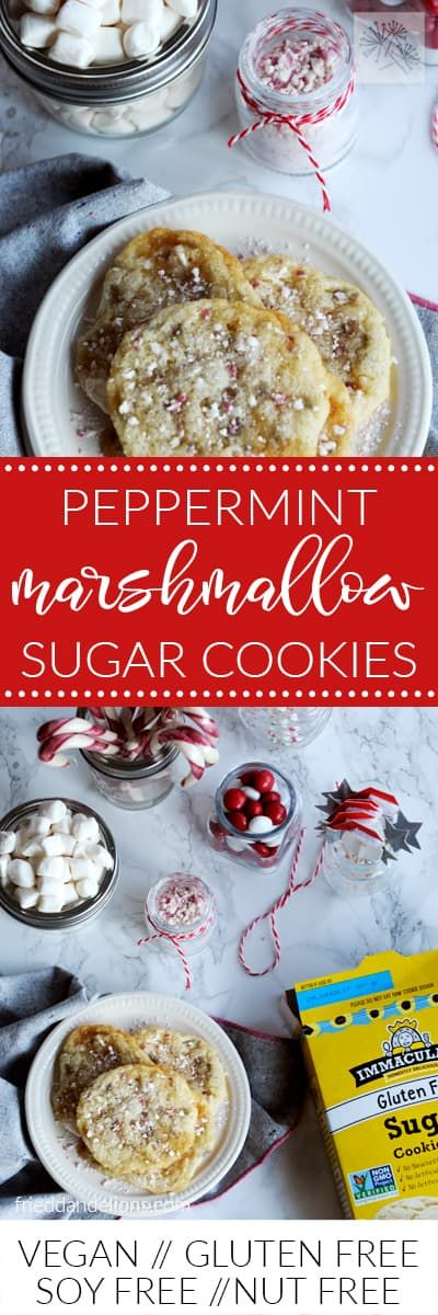 Peppermint Marshmallow Sugar Cookies—they're what Christmas dreams are made of! via @frieddandelions