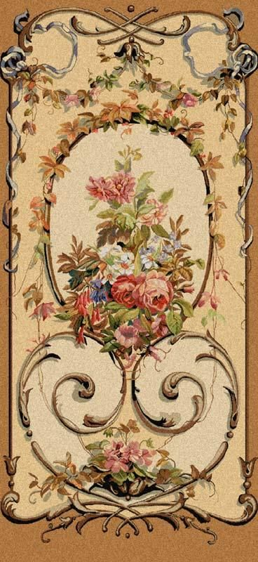 Jessica - Floral Wall Tapestry decoupage on a wardrobe door perhaps