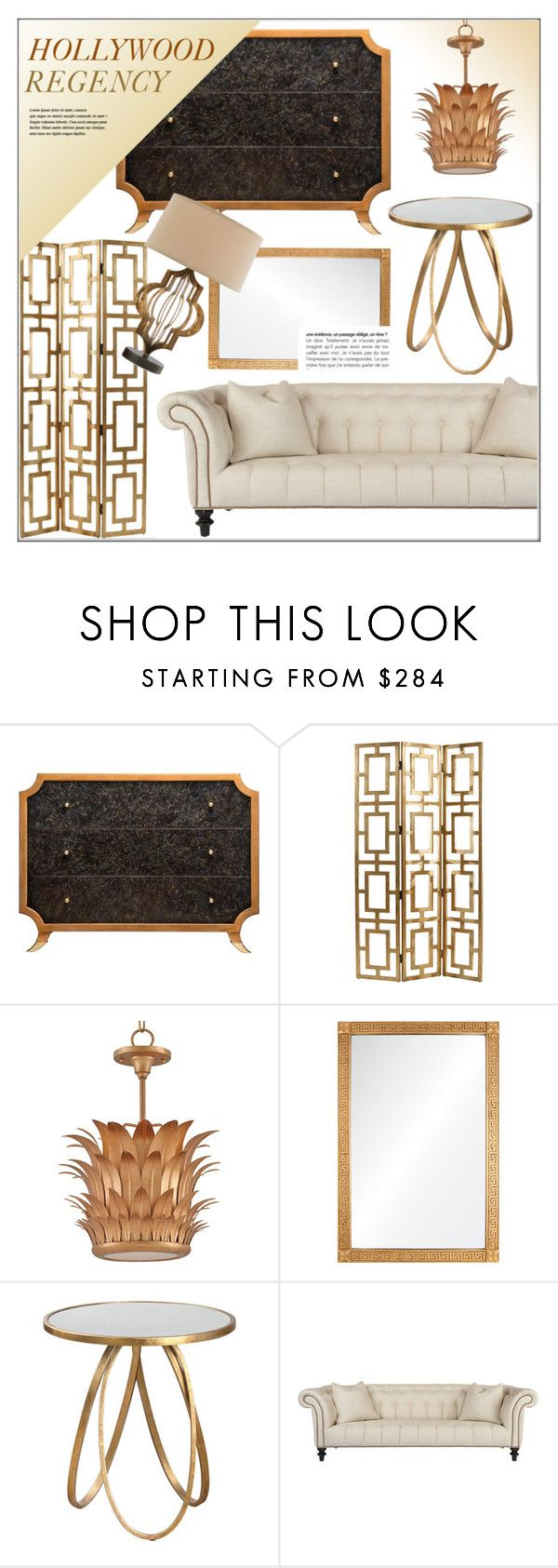 Hollywood  Regency Living by kathykuohome on Polyvore featuring interior, interiors, interior design, home, home decor, interior decorating, gold, Home, homeset and hollywoodregency