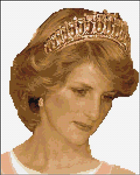Принцесса диана вышивка