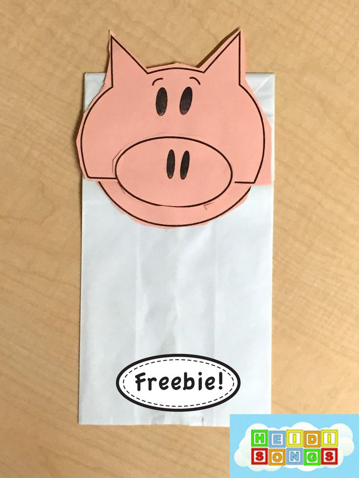 Piggie Puppet Freebie to go along with Mo Willems' books.