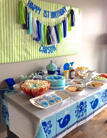 """A Whale of a Time"" - First Birthday Bash! – Little Blue Canoe"