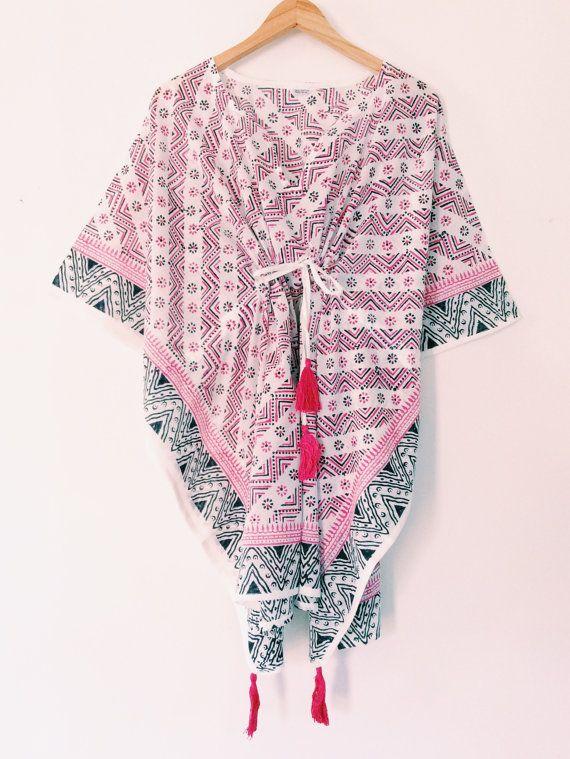 Beach Kaftan Beach Cover Up Cotton Kimono by ChantekbyFarisha