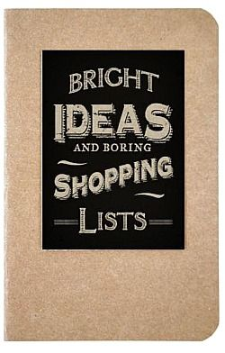 Bright Ideas Notebook $6 @ www.graceandlace.com.au
