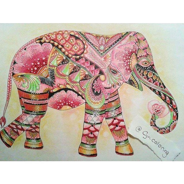 Colorindomeujardimencantado Paixo Por Colorir On Instagram Asian ElephantAnimal KingdomColoring
