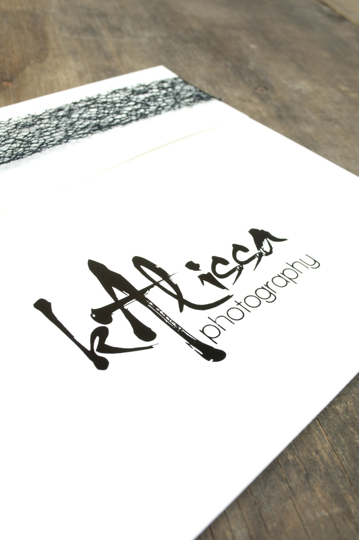 Kalissa Photography, Fort Worth, Texas - logo imprinting at Rice Studio Supply - brush stroke logo - branding
