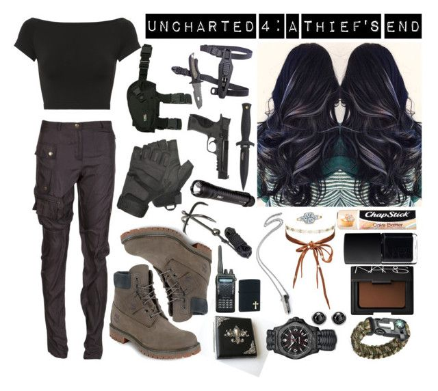 """""""Bez tytułu #1278"""" by kereneza ❤ liked on Polyvore featuring Tacori, Chan Luu, Helmut Lang, Timberland, Smith & Wesson, Lanvin, 5.11 Tactical, Zippo, Holster and Chapstick"""