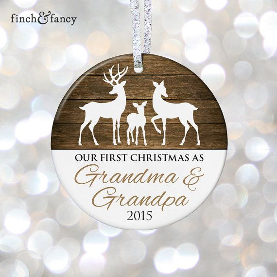New Grandparents Ornament, New Grandma & Grandpa Gift, New Baby Pregnancy Reveal to Grandparents Christmas Gift for Pregnancy Announcement