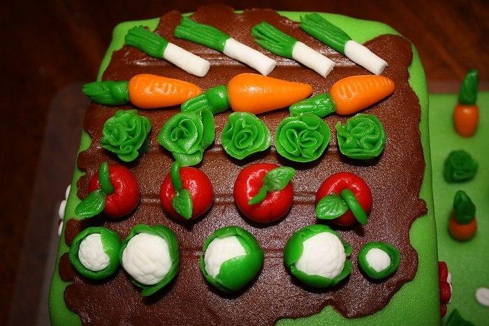 Detail Moestuin taart