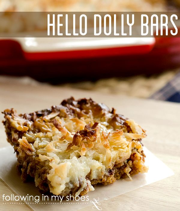 Hello Dolly Bars: just 6 ingredients for the perfect, rich, chocolate and coconut treat. Tastes just like Samoa Cookies!!!!