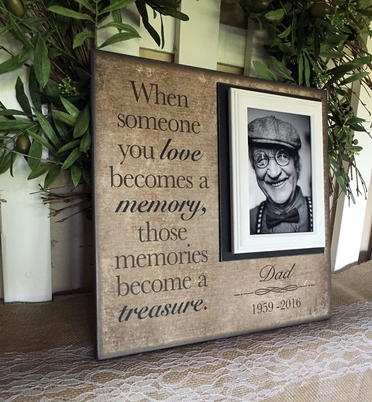 In Memory Frame ~Lost Loved One Photo Memorial ~Those Memories Become a Treasure ~In Loving Memory Personalized Funeral Bereavement Gift