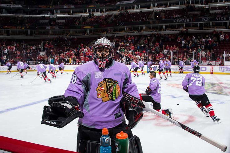 1d0198848 ... NHL Jersey Corey Crawford 50 Hockey Fights Cancer jersey Chicago  Blackhawks Hockey Pinterest Corey crawford
