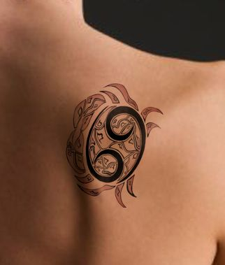 horoscope tattoos for women | The actual glyph can easily remain simply by alone like an amazing ...