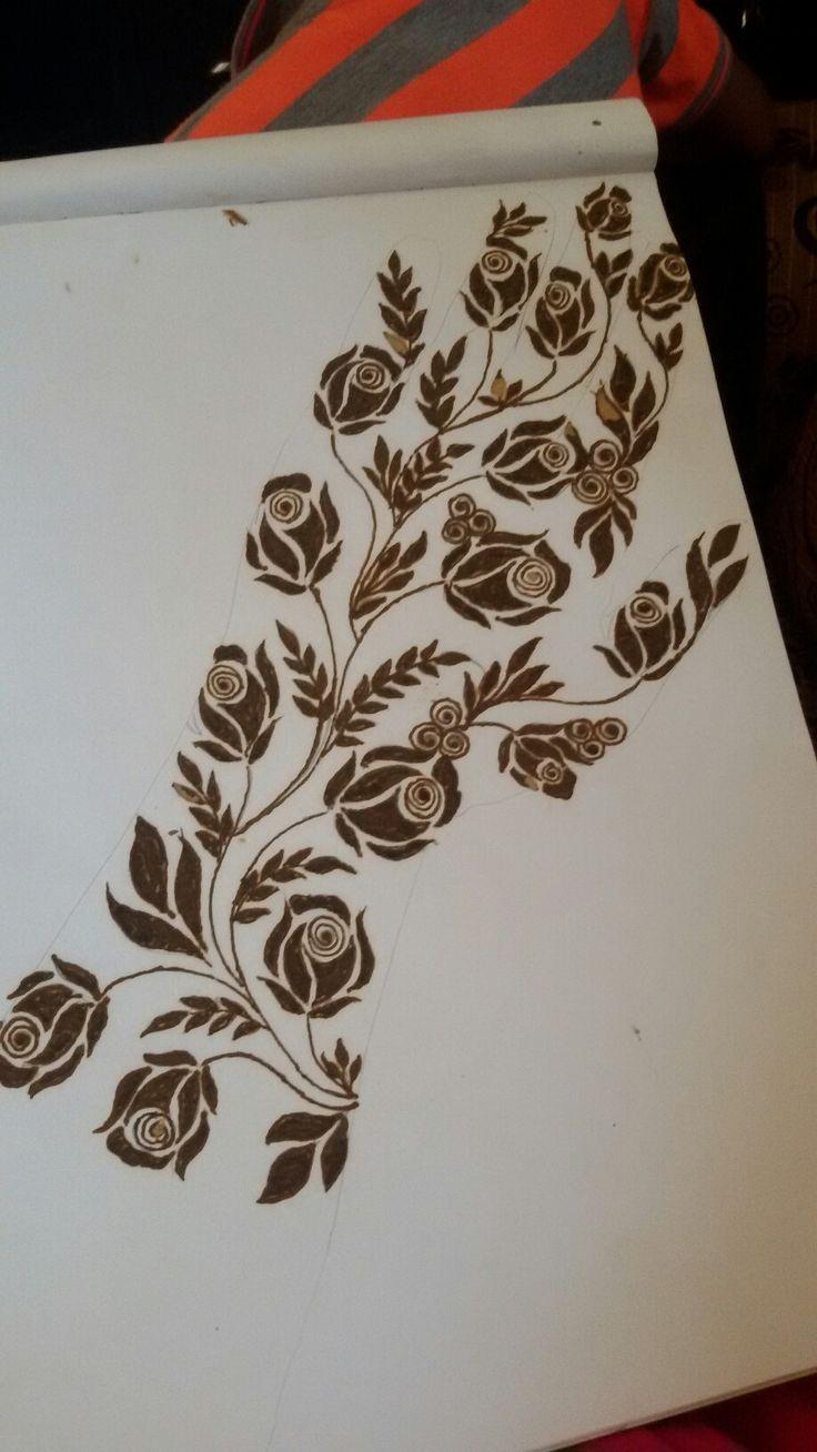 #henna #rose #mehendi #design #design