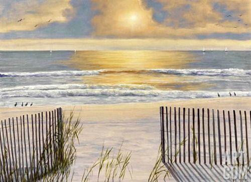 Romantic Beach Paintings by Diane Romanello: Available as prints: http://beachblissliving.com/romantic-beach-paintings/