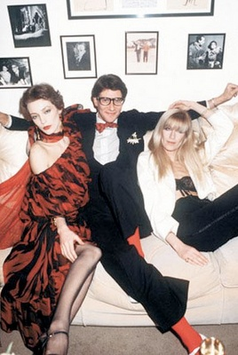 YSL with Loulou de la Falaise and Betty Catroux.
