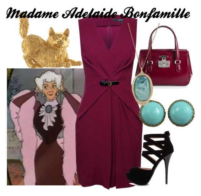 """Madame Adelaide Bonfamille"" by amarie104 ❤ liked on Polyvore featuring Gucci, 2b bebe, Ten Thousand Things and Eclectica"