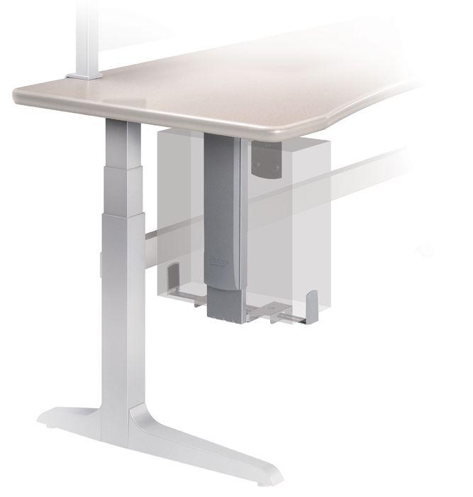Under desk computer mount hostgarcia for Mobile computer ikea