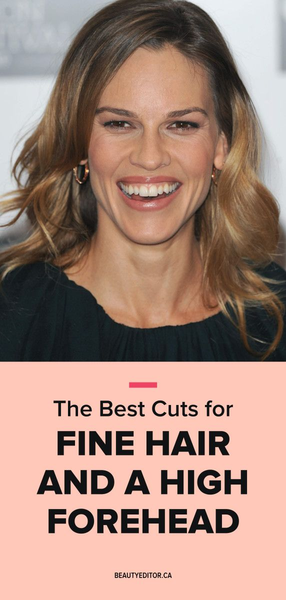 The best cuts for fine hair and a high forehead, according to celebrity hairstylist Bill Angst.