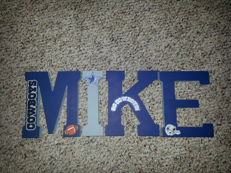 Wooden Letters Dallas Cowboys Baby Pinterest