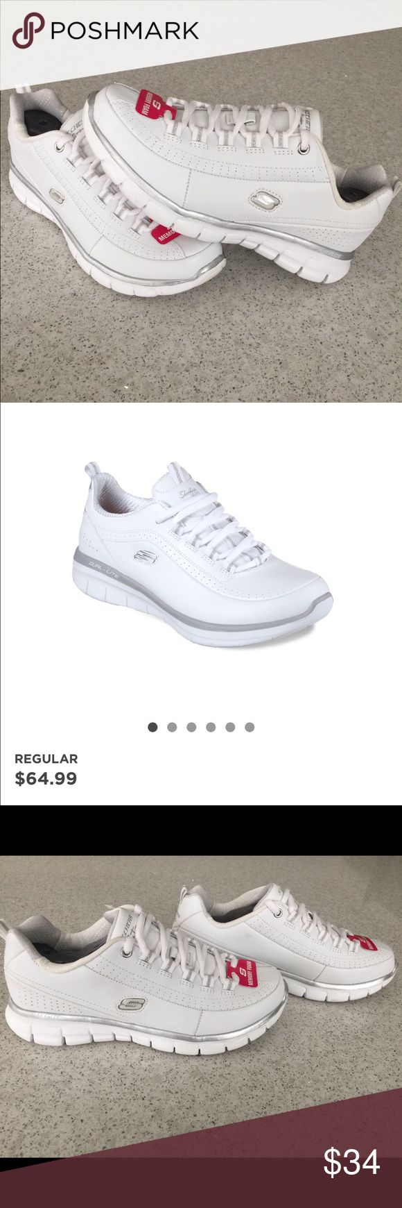 Skechers Synergy Classic Women's Lace Up Sneakers These are so cute for every outfit! Brand new with tags Skechers shoes. Originally bought from Dillard's for $65. Size 6 shoe in women's. Missing box! Skechers Shoes Athletic Shoes