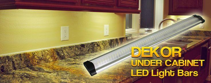 LED under cabinet light superimposed over the DEKOR kitchen