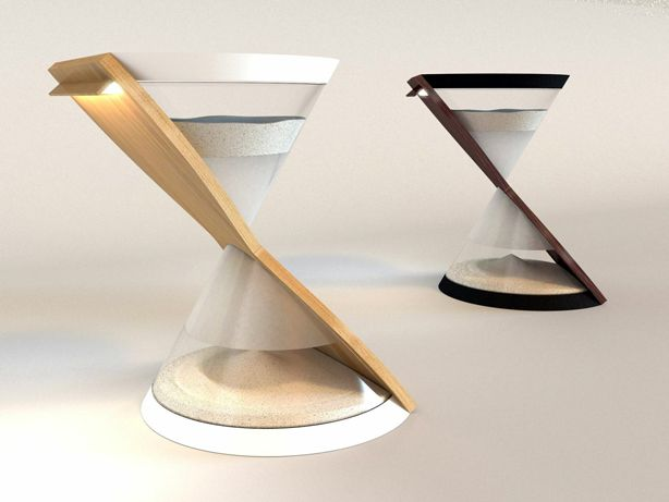 Hourglass Lamp Powered by Falling Sands of Time | Danielle Trofe