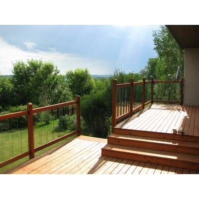 Best Traditional Treated Straight Deck Railing Panel Deck 640 x 480