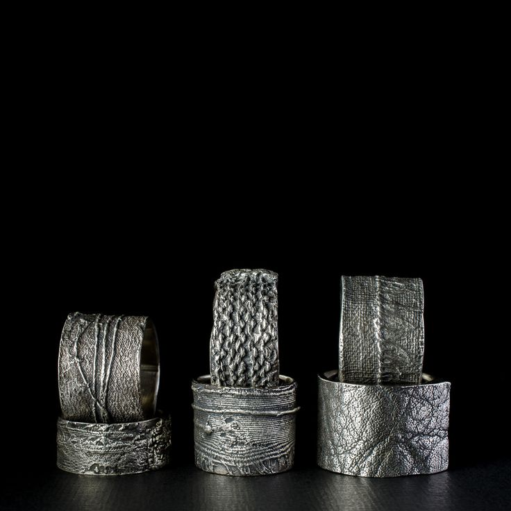 https://flic.kr/p/CBDT6w | New sterling silver fabric rings made using the lost wax casting process.